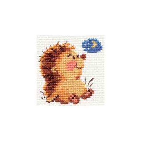 Доброй ночи, набор для вышивания крестиком, 7х7см, 6цветов Алиса