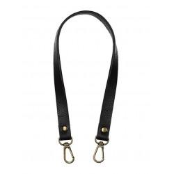 Черный, ремешок для сумок из экокожи 20х450мм. Zlatka