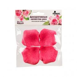 Ярко-розовый, декоративные лепестки роз(полиэстер), диаметр 5см, 100шт,  Mr.Painter