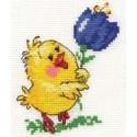 Цыпа, набор для вышивания крестиком, 9х11см, 10цветов Алиса