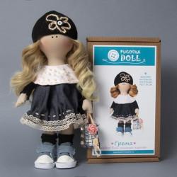 Грета, набор для шитья куклы 25см. Pugovka Doll