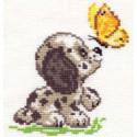 Привет!, набор для вышивания крестиком, 10х12см, 9цветов Алиса