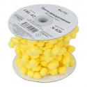 Желтый, тесьма декоративная с помпонами 21мм 1м. BLITZ
