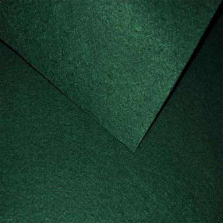 Т.зеленый, фетр корейский мягкий Premium 100%полиэcтер, толщина 1мм, 33х53см