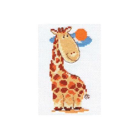 Жирафик, набор для вышивания крестиком, 7х13см, 9цветов Алиса