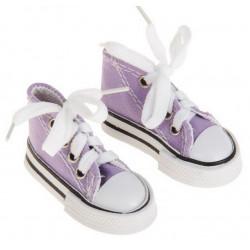Кеды фиолетовые, длина стопы 7,5см. Кукольная обувь