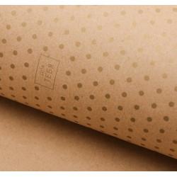 Золотой горошек, крафт бумага упаковочная 50х70см SL