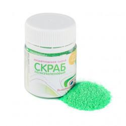 Зеленый, скраб полиэтилена (0,2-0,4) 15гр