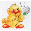 Утенок, набор для вышивания крестиком, 11х10см, 11цветов Алиса