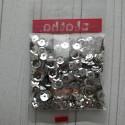 Серебро, пайетки россыпью d6мм 10г Zlatka