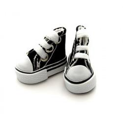 Кеды черные на шнурках, длина стопы 3,9см высота 3см. Кукольная обувь