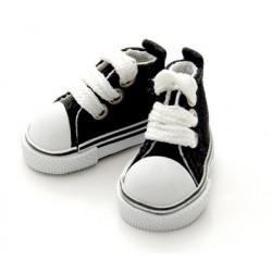 Кеды черные на шнурках, длина стопы 5см высота 3,3см. Кукольная обувь