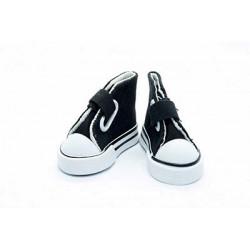 Кеды черные на липучке, длина стопы 7,5см высота 4,5см. Кукольная обувь
