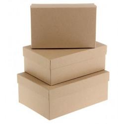 Прямоугольная коробка картонная малая крафт 19,5*12*7см