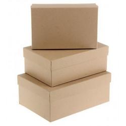 Прямоугольная коробка картонная большая крафт 23*14,5*9,5см