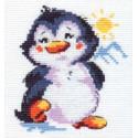 Пингвиненок, набор для вышивания крестиком, 9х11см, 9цветов Алиса