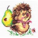Ежик, набор для вышивания крестиком, 13х13см, 12цветов Алиса