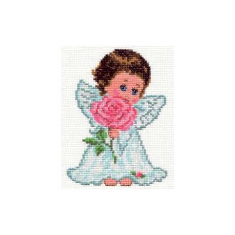 Ангелок любви, набор для вышивания крестиком, 10х14см, 14цветов Алиса