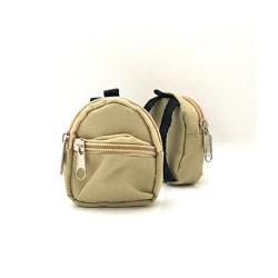 Рюкзак для куклы серо-бежевый, 65х75х30мм