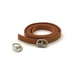 Ремешок св.коричневый замша 0,9х80см+пряжка мини никель 2шт. Magic4Toys