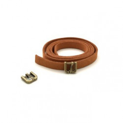 Ремешок св.коричневый замша 0,9х80см+пряжка мини бронза 2шт. Magic4Toys