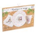 Тёплые объятия, переводки на посуду (холодная деколь), 19х12см АУ