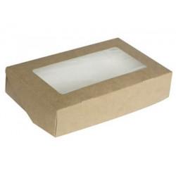 Крафт, коробка горизонтальная с окошком 20х12х4см