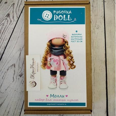 Молли, набор для шитья куклы 30см. Pugovka Doll
