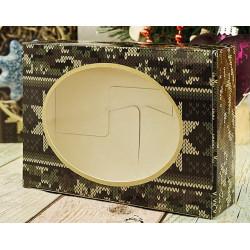 Камуфляжная вязка, коробка горизонтальная с окошком 15,5х11х4см