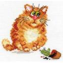 Хулигашка, набор для вышивания крестиком 13х13см 12цветов Алиса