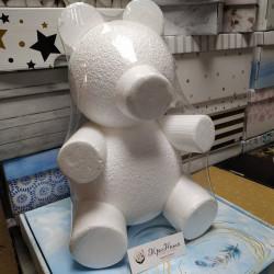 Медведь, пенопластовая заготовка для мишки из роз 35х25х20см