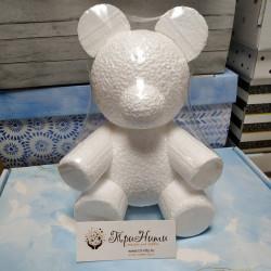 Медведь, пенопластовая заготовка для мишки из роз 20х15х12см