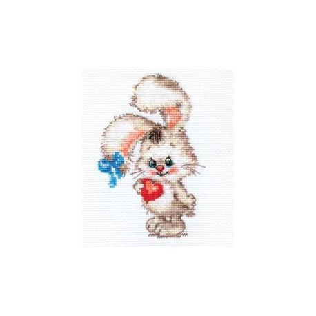 Моей зайке, набор для вышивания крестиком, 9х13см, 12цветов Алиса