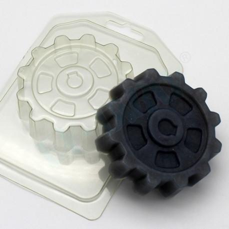 Шестерня, пластиковая форма для мыла 90г 81х81х22мм XD