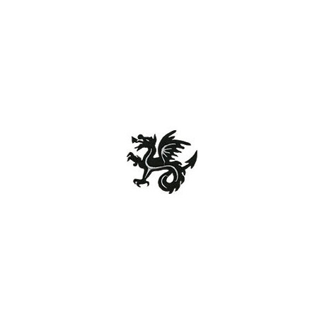 Дракон, 8х8.5см аппликация на клеевой основе