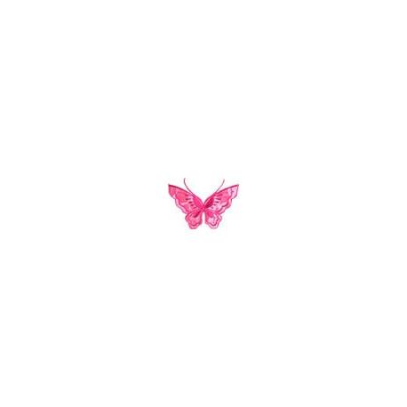 Бабочка малиновый, 6х8см, аппликация на клеевой основе
