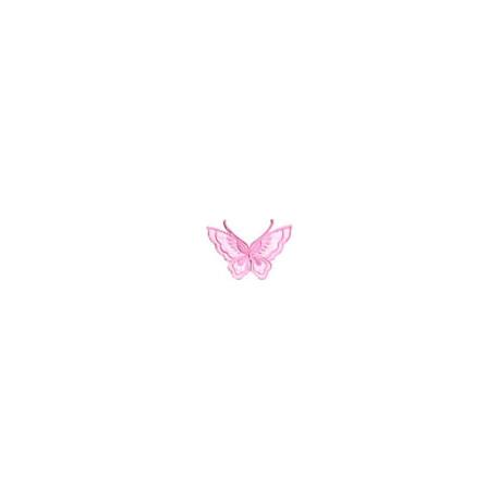 Бабочка розовый, 6х8см, аппликация на клеевой основе
