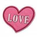 """Сердце """"LOVE"""", 7х5.5см, аппликация на клеевой основе"""
