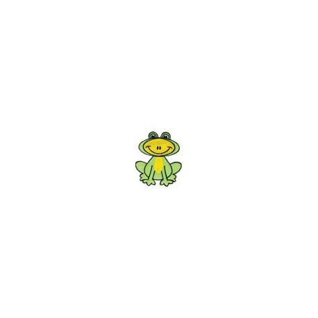 Лягушонок, 5х4.5см, аппликация на клеевой основе