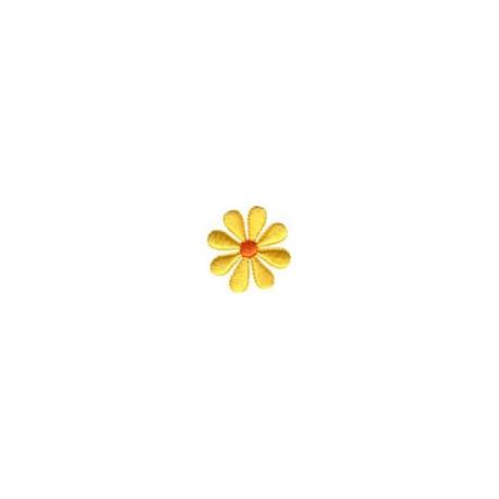 Цветок желтый, 3.5х3.5см, аппликация на клеевой основе