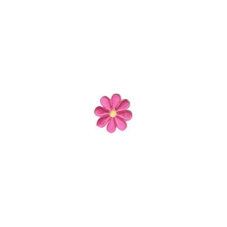 Цветок малиновый, 3.5х3.5см, аппликация на клеевой основе