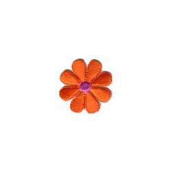 Цветок алый, 3.5х3.5см, аппликация на клеевой основе
