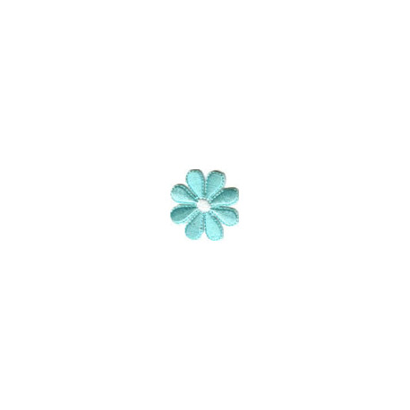 Цветок бирюзовый, 3.5х3.5см, аппликация на клеевой основе