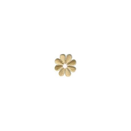 Цветок золотой, 3.5х3.5см, аппликация на клеевой основе
