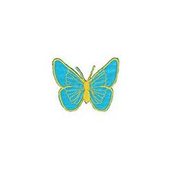 Бабочка голубая, 5х6.5см, аппликация на клеевой основе