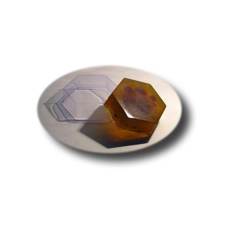 Шестиугольник, пластиковая форма для мыла МФ