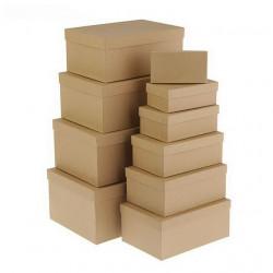 Прямоугольная коробка картонная крафт 13,5*8*4,5см