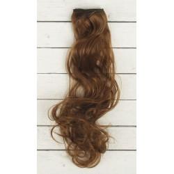 Каштан, кудри волосы для кукол 40см на трессе 50см цв.№12 SL