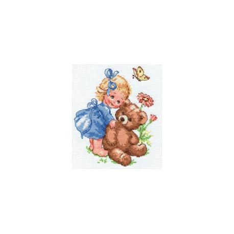 Машенька, набор для вышивания крестиком, 13х15см, 18цветов Алиса