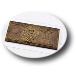 Плитка 100$, пластиковая форма для шоколада МФ